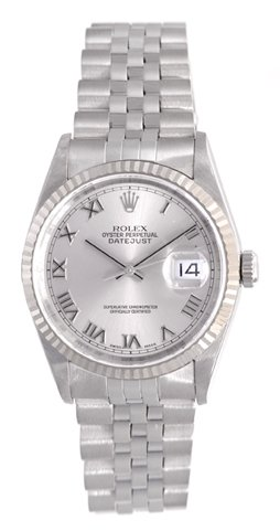 Rolex Datejust Oyster Perpetual Stainless Steel Mens Watch 16234