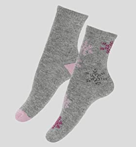 2 Pairs Of Assorted Ankle High Socks With Angora