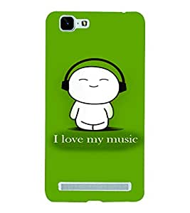 PrintVisa Music Cute Quotes 3D Hard Polycarbonate Designer Back Case Cover for Vivo X5 MAX