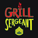 Attitude Apron Grill Sergeant Apron, Black, One Size Fits Most