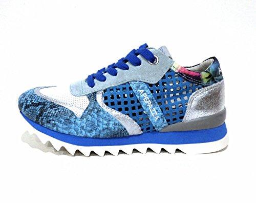 Apepazza DLY05 Dafne materialmix abisso sneaker donna blu in pelle traforata N° 35