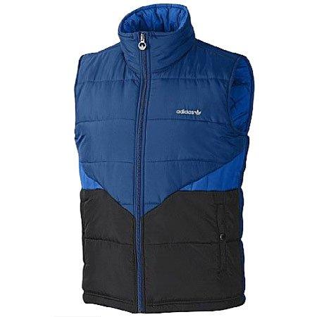 Adidas Originals Reversible Padded Gilet Bodywarmer Jacket Blue Mens Size L