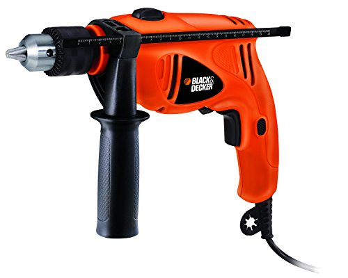 Black & Decker 550-Watt 13mm 43-Piece Variable Speed Reversible Hammer Drill Machine (Black/Orange)