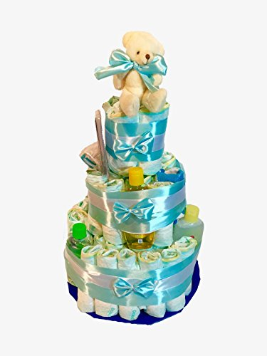tarta-de-panales-dodot-johnsonzs-baby-azul-chupete-y-babero