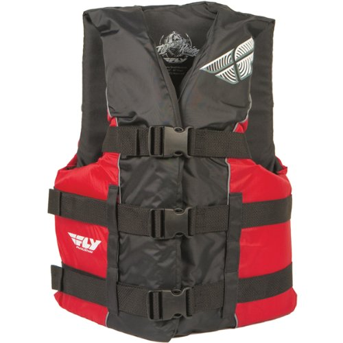 Fly Racing Standard Adult Water Sports Racing Watercraft Vest - Color: Red/Black, Size: Small/Medium