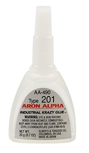 Aron Alpha Type 201 (2 cps viscosity) Regular Set Instant Adhesive 20 g (0.7 oz) Bottle - 1