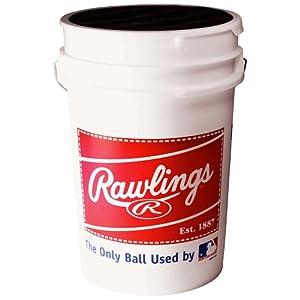 Buy Rawlings Bucket With Baseballs (30 Balls)  by Rawlings