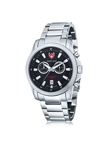 Swiss Eagle SE-9055-11 - Reloj para hombres, correa de acero inoxidable