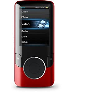 Coby MP707-4GRED 2 Inch LCD 4GB Video MP3 Player - Red (Discontinued by manufacturer)