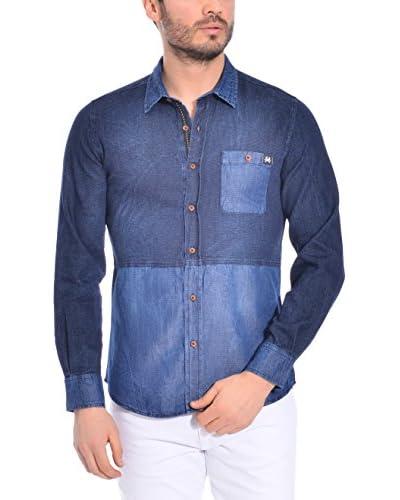RNT23 Camisa Vaquera Azul Marino