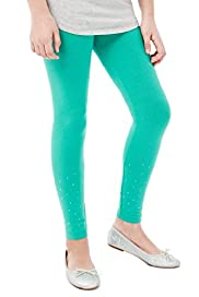Limited Cotton Rich Diamanté Leggings with Stay New™