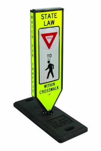 Solestrian, Yield, Illuminated 4-Sided In-Road Crosswalk Sign, Solar Powered W/One Base & Qr Pin