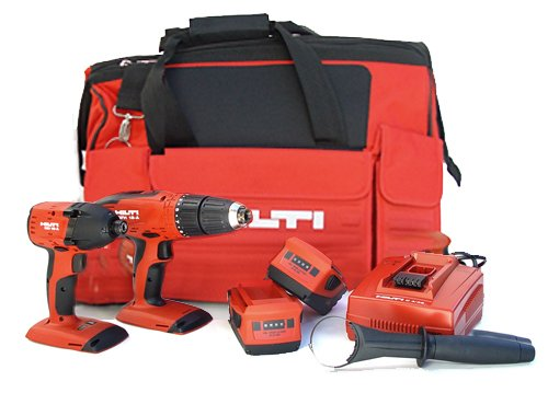 Hilti 03482660 SFH 18-A and SID 18-A CPC 18-volt Cordless Impact Driver and Hammer Drill/Driver Combo with Soft Case