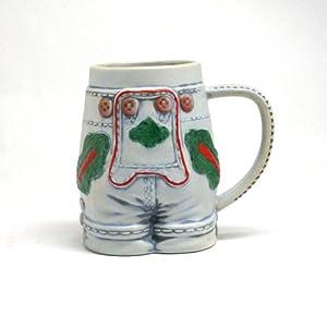 German Lederhosen Beer Mug from M. CORNELL IMPORTERS INC.