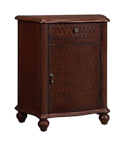 Coast to Coast Textured 1-Drawer & 1-Door Cabinet, Red