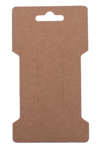 Trimweaver 100-Piece Rectangular Hair Clip Display Cards, Kraft Brown (Hair Display Cards compare prices)