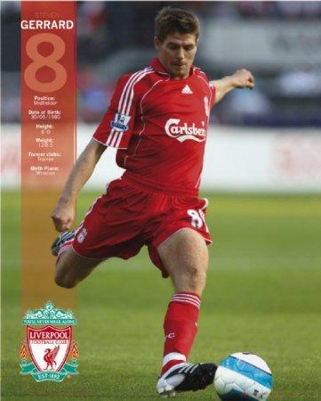 Liverpool- Steven Gerrard Sports Mini Poster Print, 16x20