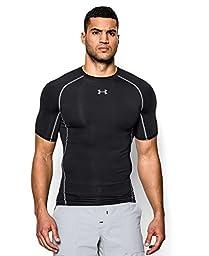 Men\'s Under Armour HeatGear Armour Short Sleeve Compression Shirt, Black (001), Small