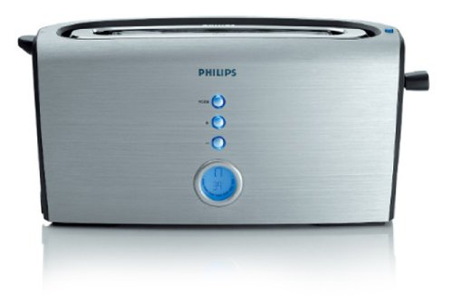 Philips Pure Essentials Collection HD2618 Aluminium 1200-Watt Pop-up Toaster