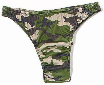 Camouflage French Bikini Bottom, Camo, Small
