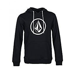 Volcom Men\'s Stone Pullover Hoodie, Black2, Large