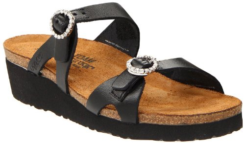 Naot Women's Kate Sandals,Black Matte Leather,42 M EU