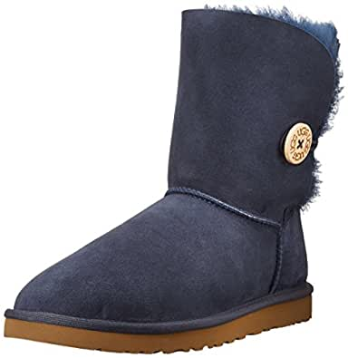 Ugg Australia W Bailey Button Navy Navy Sheepskin Womens Boots 41 EU