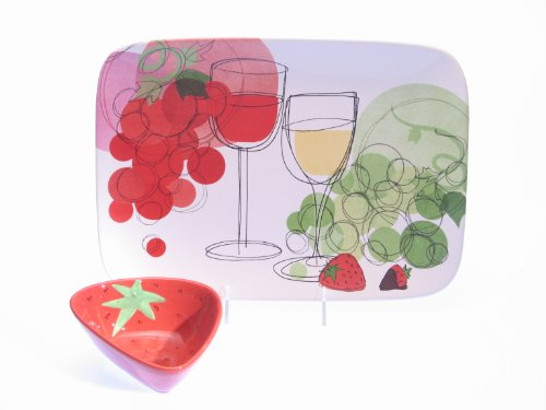 Certified International Vino 2-Piece Chip and Dip Set
