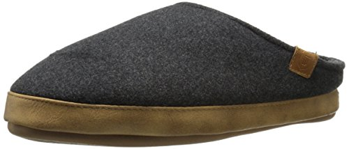 Wembley Men's Flannel Clog Slipper Mule, Gray, Large/9.5-10.5 M US