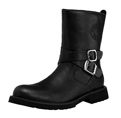 Guqtianlun Mens Spring British Style New Fashion First Layer Of Leather Middle-Calf Boots(8 D(M)US, Camel)