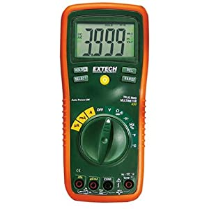 Extech EX430 True RMS Autoranging Multimeter with K Type, Capacitance, Frequency, and Duty Cycle