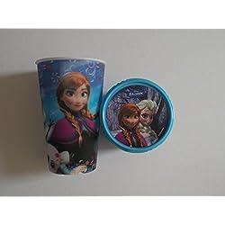 Disney Frozen-Back to School, confezione da 2, colore: blu Tazza con design cool 3D & Snack Pot