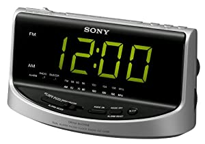 sony icf c492 large display am fm clock radio discontinued by ma. Black Bedroom Furniture Sets. Home Design Ideas