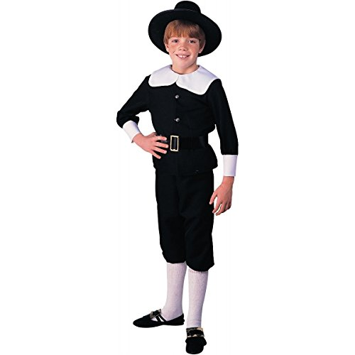 Kids-Costume Pilgrim Boy Sm Halloween Costume - Child Small
