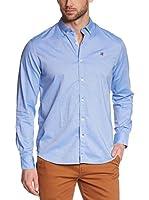 Napapijri Camisa Hombre Guerdon (Azul Claro)