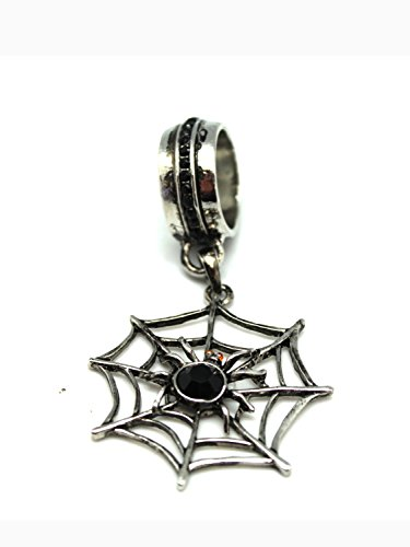 Halloween Spider Web Scarf Slide Jewelry Costume Accessory