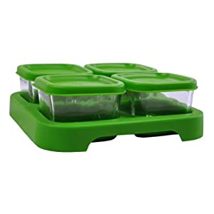 green sprouts Glass Freezer Cubes, Green
