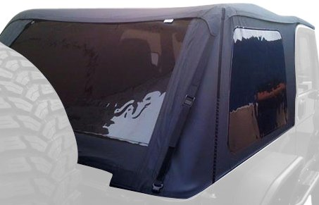 Откидная  крыша  Rampage 109435 Frameless Soft Top Kit with Door Skins and Surrounds, 1992-1995 Wrangler (YJ) Black Diamond with Tinted Windows