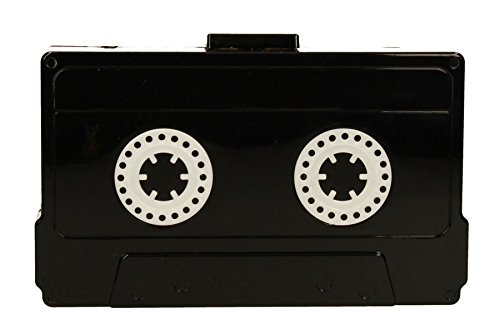 Stand out from the crowd with this quirky Video Cassette Box Clutch Bag - available in white or black