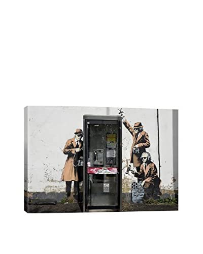 Banksy Spy Booth Gallery Wrapped Canvas Print