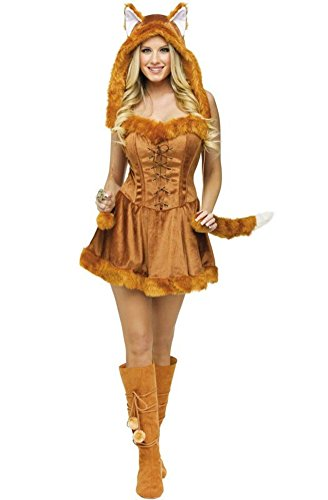 GoLoveY Cat Girl Clothes with Tail Fox Animal Cosplay Garments Ball Party Clothes