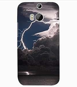 ColourCraft Lightning Image Design Back Case Cover for HTC ONE M8