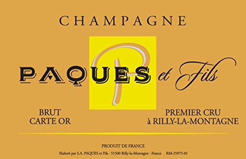 Nv Champagne Paques Et Fils: Champagne Carte Or 750 Ml