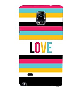 Love Colorful Lines 3D Hard Polycarbonate Designer Back Case Cover for Samsung Galaxy Note 4 N910 :: Samsung Galaxy Note 4 Duos N9100