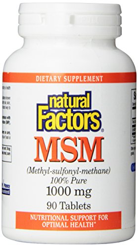 Natural factors msm 1000mg tablets 90 count herb