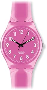 Swatch Women's GP128 Quartz Plastic Pink Dial Watch