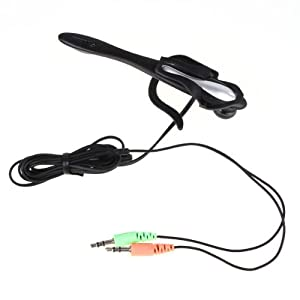 Neewer PC Computer Laptop Ear Hook Headphone Headset w/ Mic microphone