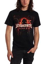 FEA Merchandising Mens Megadeth Th1rt3en Tee, Black, Small