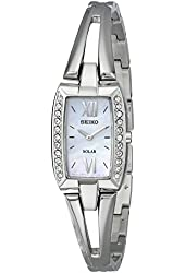Seiko Women's SUP083 Crystal-Accented Stainless Steel Watch