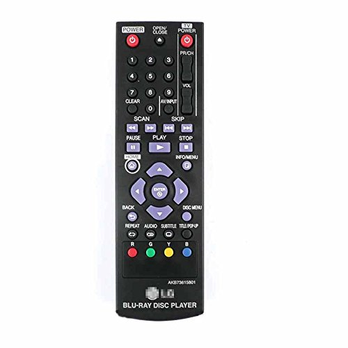JahyShow® Replacement AKB73615801 Blu-ray Remote Control for LG BP125 BP200 BP220 BP220N BP320 BP320N BP325W (Blu Ray Remote Control compare prices)